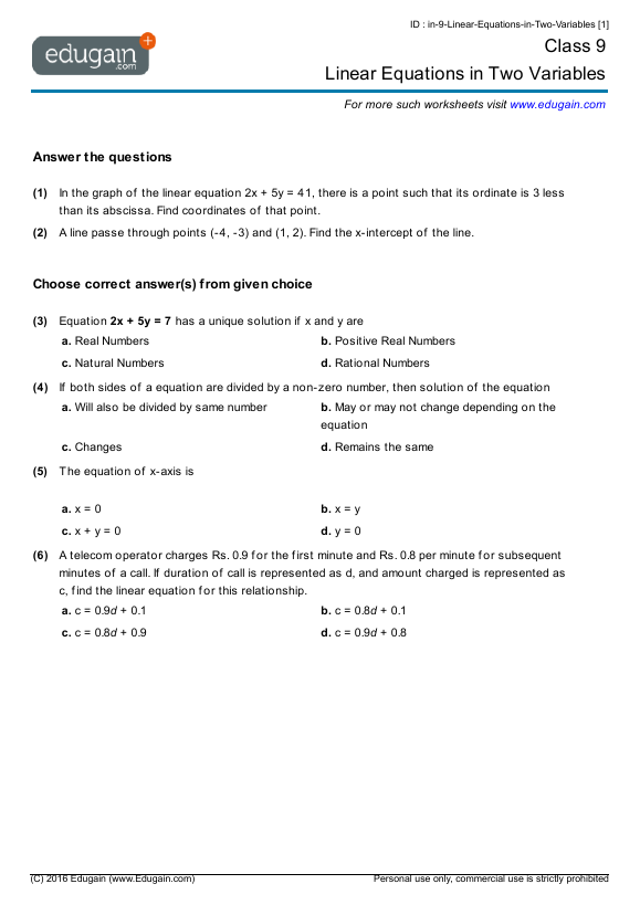 Linear-Equations-in-Two-Variables